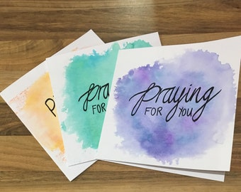 Sympathy cards with bible verse - 1 Peter 5:7 (4pack)