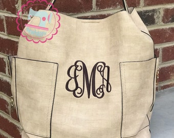 Monogrammed Carly Bucket Style Purse, pink monogram purse, spring purse, personalized gift, Mother's Day gift, birthday gift