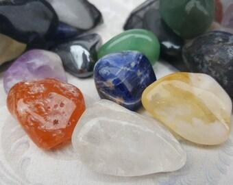 Seven Chakras Healing Stones - 7 Chakras Set - Chakra Healing Crystals - Tumbled Healing Stones - Healing Crystals - Brazilian Stones