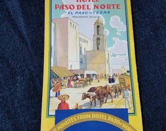 El Paso/Hotel Paso Del Norte/Travel/brochure
