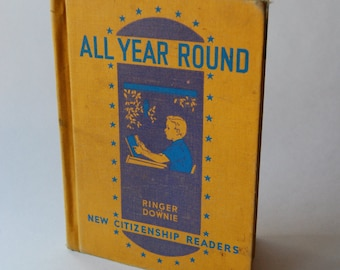 Vintage Children's Book, All Year Round, Children's Learn to Read Book