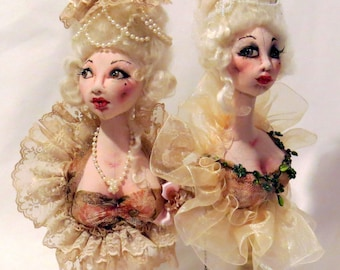SM923E - Marie Antoinette Bust  - Cloth Doll Making Sewing Pattern - PDF Download