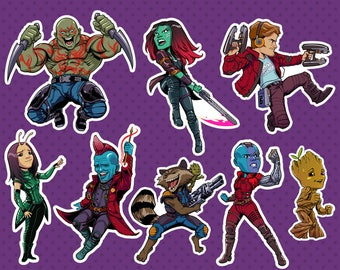 Marvel's Guardians of the Galaxy 2 Large Vinyl Stickers