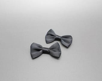35 mm wide black satin bow
