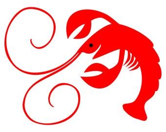 mardi gras crawfish etsy rh etsy com crawfish clip art border crawfish clipart vector