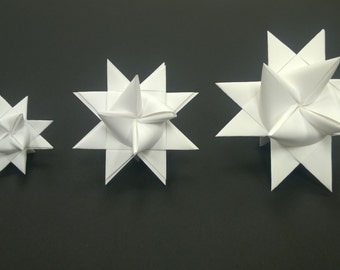 MEDIUM Moravian Paper Star Ornament German Frobelsterne