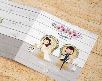 Wedding Invites,Wedding caricature,Wedding Personalised,Personalised Wedding Invites