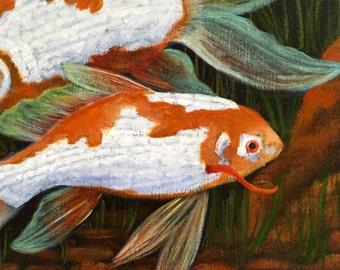 Aquarium painting 16x20