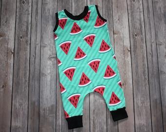 Baby Romper,Summer Baby Romper,Baby Outfit,Watermelon,Toddler Romper,Girl Romper,Boy Romper,Play Jumper,Stripe Romper,Newborn Romper