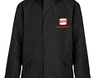 Seat Quilted Polyester Wind and Water Resistant Winter Jacket