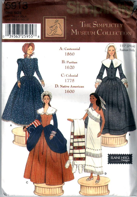 Simplicity 5913 Designer Fashion Doll Clothes Pattern Barbie