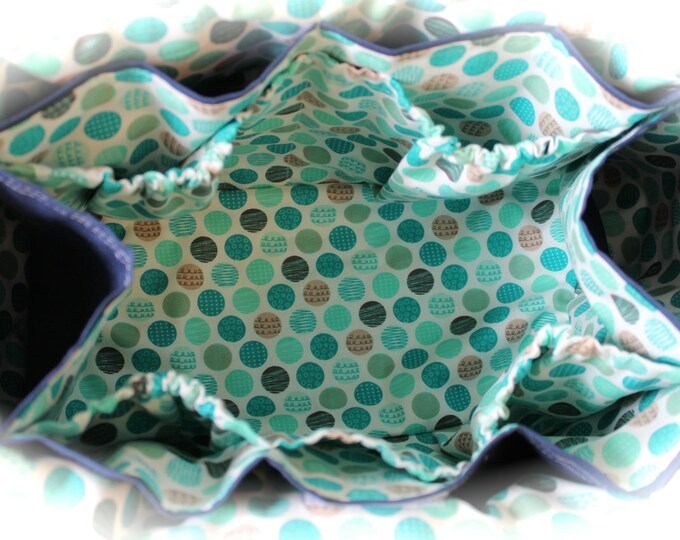 Watermelon Wishes Crochet Organizer Caddy Tote Bag