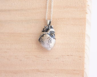 Lolita * Anatomical Heart Necklace * Sterling Silver * Human Heart * Anatomic Heart * Heart Jewelry * Human Anatomy * Gothic Necklace *