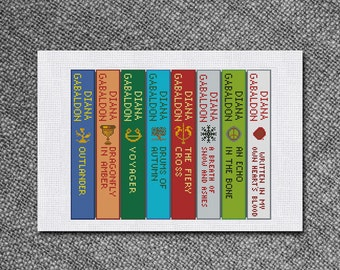 Cross Stitch Pattern Outlander series books Instant Download PDF Counted Chart
