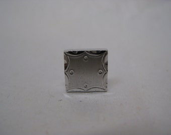 Sterling Silver Square Tie Tack Lapel Pin Vintage 925 Anson