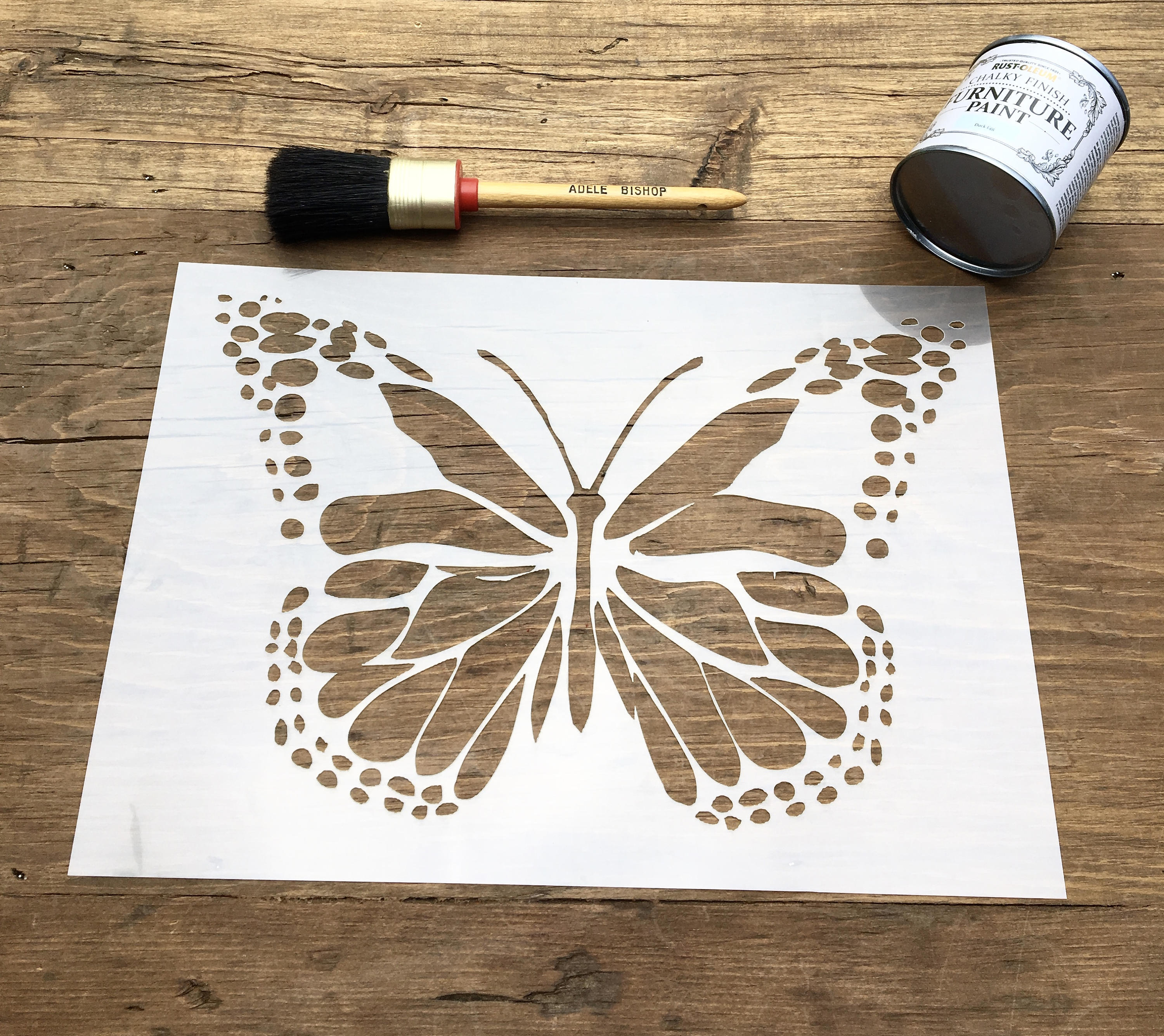 Large Butterfly Stencil Butterfly Wall Art Insect Stencil for Butterfly Wall Art Stencil  199fiz