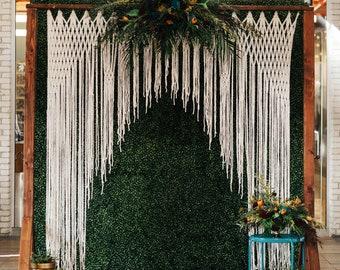 Wedding Backdrop Handmade Boho Wedding Decor Garland Wedding Arch Photography Backdrop Photo Booth