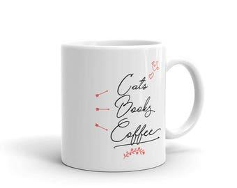Cats Books Coffee Mug