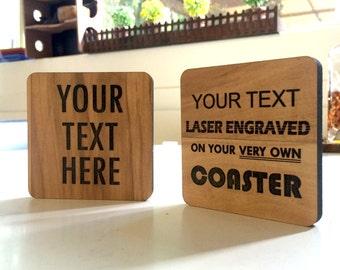 Custom Lasercut Coaster | (4x Pack)