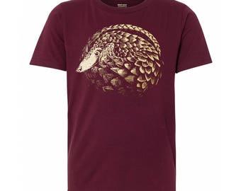 Youth Pangolin T Shirt, 10% Donated to Animal Causes, Kid's Wildlife Tee, Pangolin Gift T-Shirt, Kid's Pangolin Tshirt