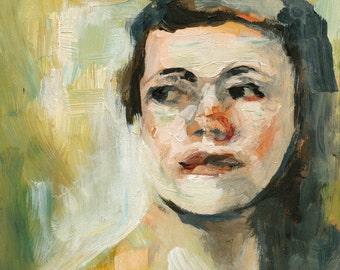 Figure Painting Art Print, Portrait wall art, thepaintedgrove
