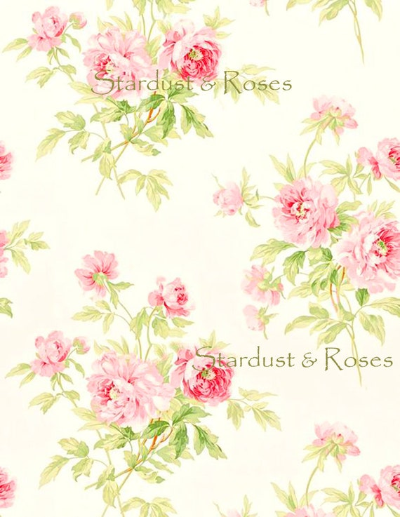 Shabby Chic Printable DOWNLOAD DIGITAL Wallpaper Instant ANTIQUE Background