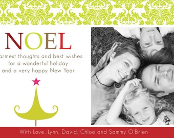 Custom photo holiday card - Digital -Christmas greeting card - 4 x 6 - print as many as you need