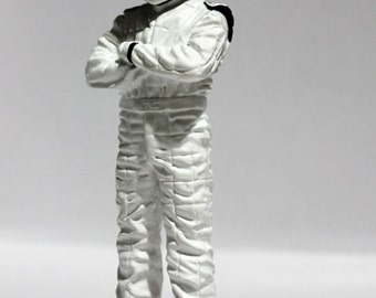 1/18 white driver figure / topgear the stig figure 1:18 handmade