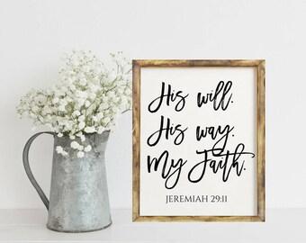 Bible Verse Print, Scripture Printable, Christian Wall Art Print, Home Decor Print, Scriputure Signs, Home Decor Wall Art, Bible Verse Sign