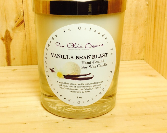 Featured listing image: Vanilla Bean Blast Soy Wax Candles Holiday Gift | Birthday Gifts Under 20
