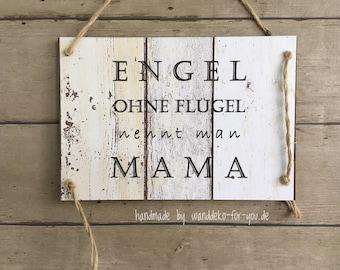 Muttertag, Mama, Vintage Schild, Holzschild, Wanddeko, Spruchschild, Shabby chic