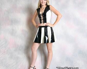 Two Tone Striped Cheerleader Skirt