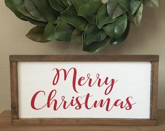 Merry Christmas wood sign - Christmas decor - Holiday decor