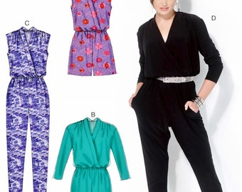 Ladies Jumpsuit Pattern, Loose Fit Romper Pattern, Stretch Knit Jumpsuit Pattern, McCall's Sewing Pattern 7099