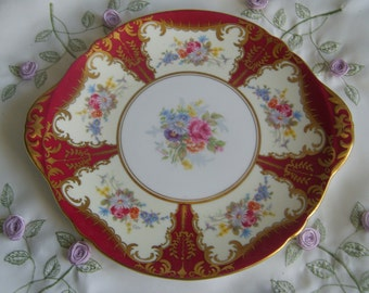 Beautiful Shelley England floral cake plate