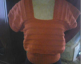 """blouse"" sweater summer vintage rust"