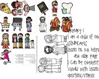 lds primary sunbeams manual 1 lesson 18 i am thankful for my rh etsy com Work Together Clip Art LDS Work Together Clip Art LDS