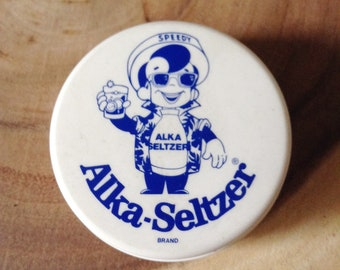 Speedy, Alka Seltzer Collapsible Travel Cup, 1960's, Medicine Cup, Plop Plop Fizz Fizz, Made in USA