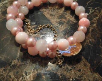 Plush pink Wrap Bracelet