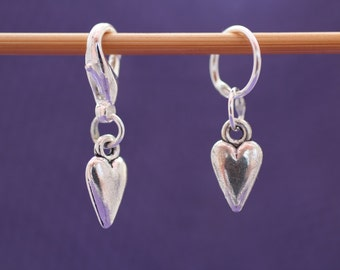 Small Pointed Heart Knitting or Crochet Stitch Marker, Knitting Marker, Crochet Marker, Crochet Tools, Knitting Tools, Gift for Knitters