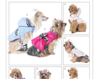 Sewing Pattern for Dog Clothes,Dog Vest,Dog Coats,Dog PJs, Dog Leg Warmer,Dog Raincoat,Dog Hoodie, Dog Dress,McCall's Pattern 6218,