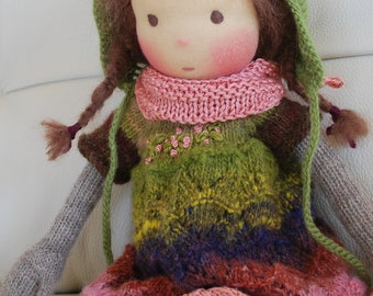 Doll, Waldorf Doll, Soft Doll, Knitted Doll, Handmade Doll, Natural Fibre Doll, Handmade Toys, Steiner Doll