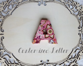 customized  alphabet letters made with fabric