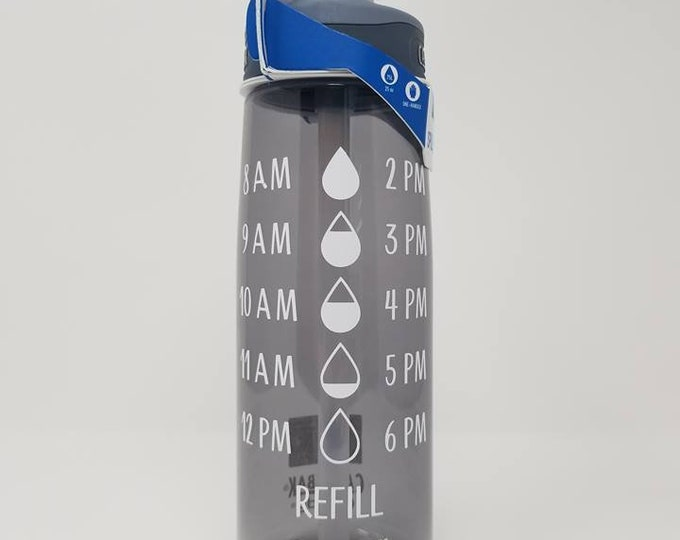 Daily Water Tracker With Droplets CamelBak ® Water Bottle -Bottle, Water Intake, Water Measurements, Drink, Motivation, Consumption - .75L