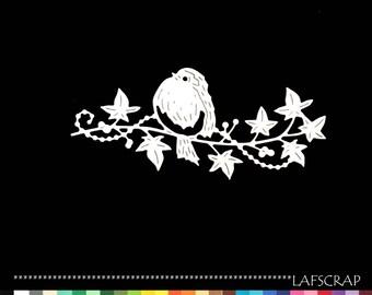 Cut bird branch scrapbooking embellishment die cut scrap album animal deco paper