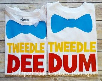 Tweedle Dee or Tweedle Dum white short sleeve Shirt*