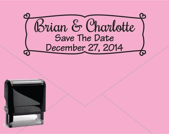 Self Inking Return Address Stamp * Custom Address Rubber Stamp (E037) Wedding Save the Date
