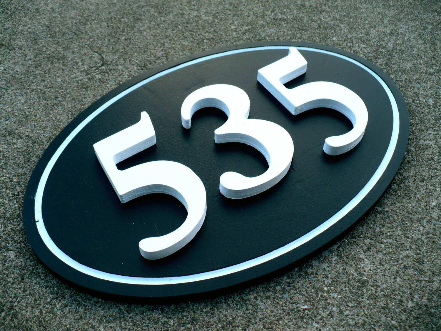 Modern Outdoor House Number Plaque House Numbers House