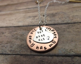 military-handstamped necklace-personalized-army-navy-airforce-coast guard-marines-reserve