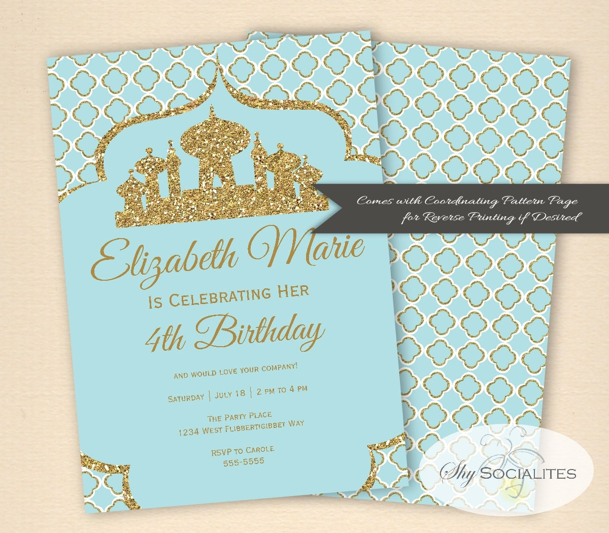 Awesome arabian party invitations pictures inspiration arabian invitation aladdin magic arabian nights stopboris Image collections